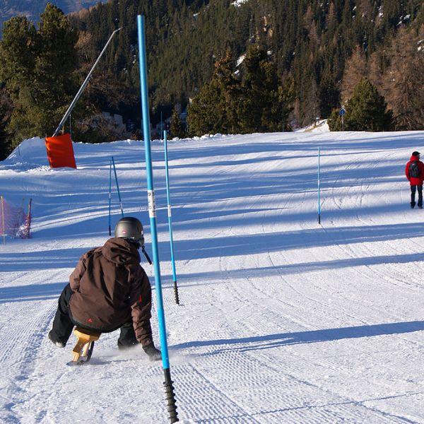 Activité incentives à La Plagne  : Slalom en Paret