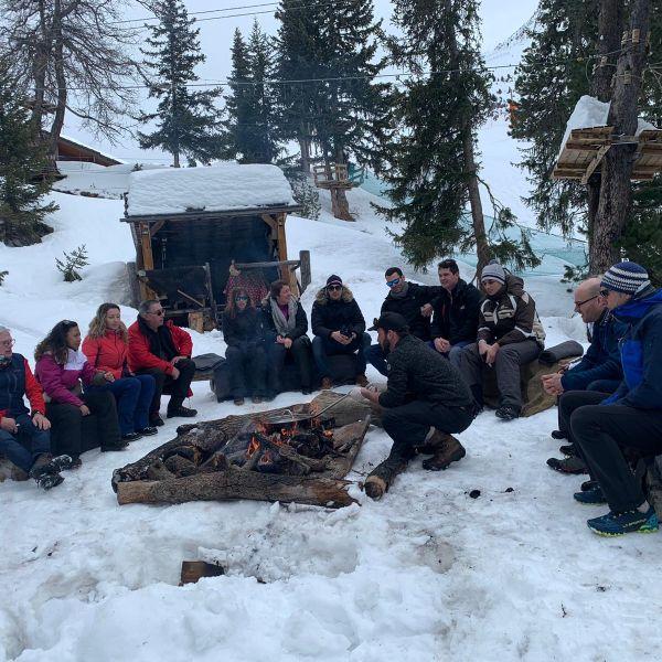 Activité incentives à La Plagne  : Cabane du Bûcheron