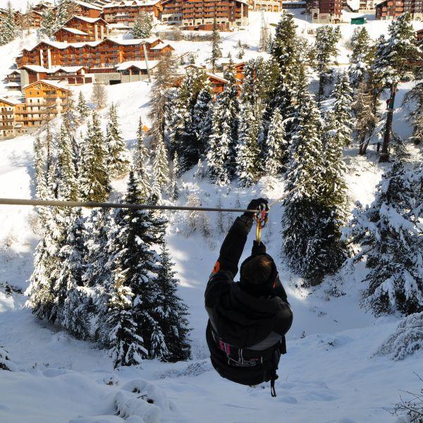 Activité incentives à La Plagne  : Tyrolienne Géante