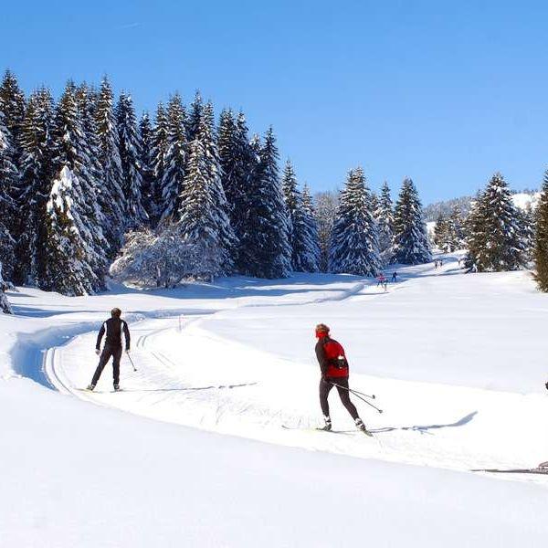 Activité incentives à La Plagne  : Randonnée en skis de fond